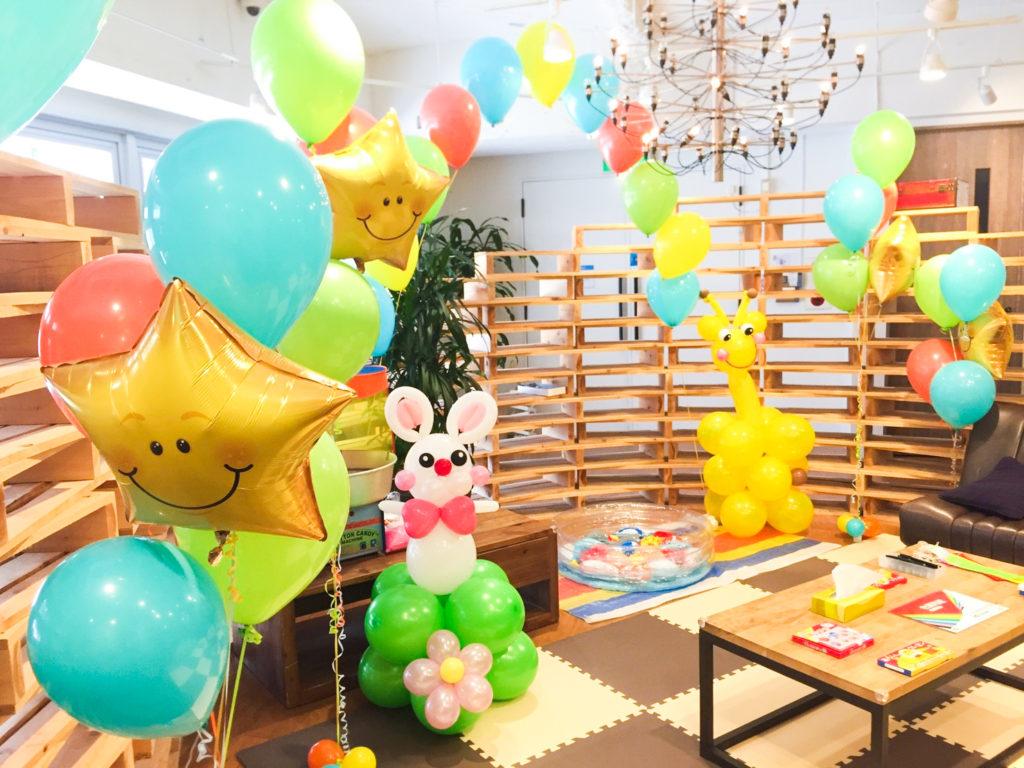 風船バルーン飾り付け業者 東京で格安会場装飾 ファミリーデイ